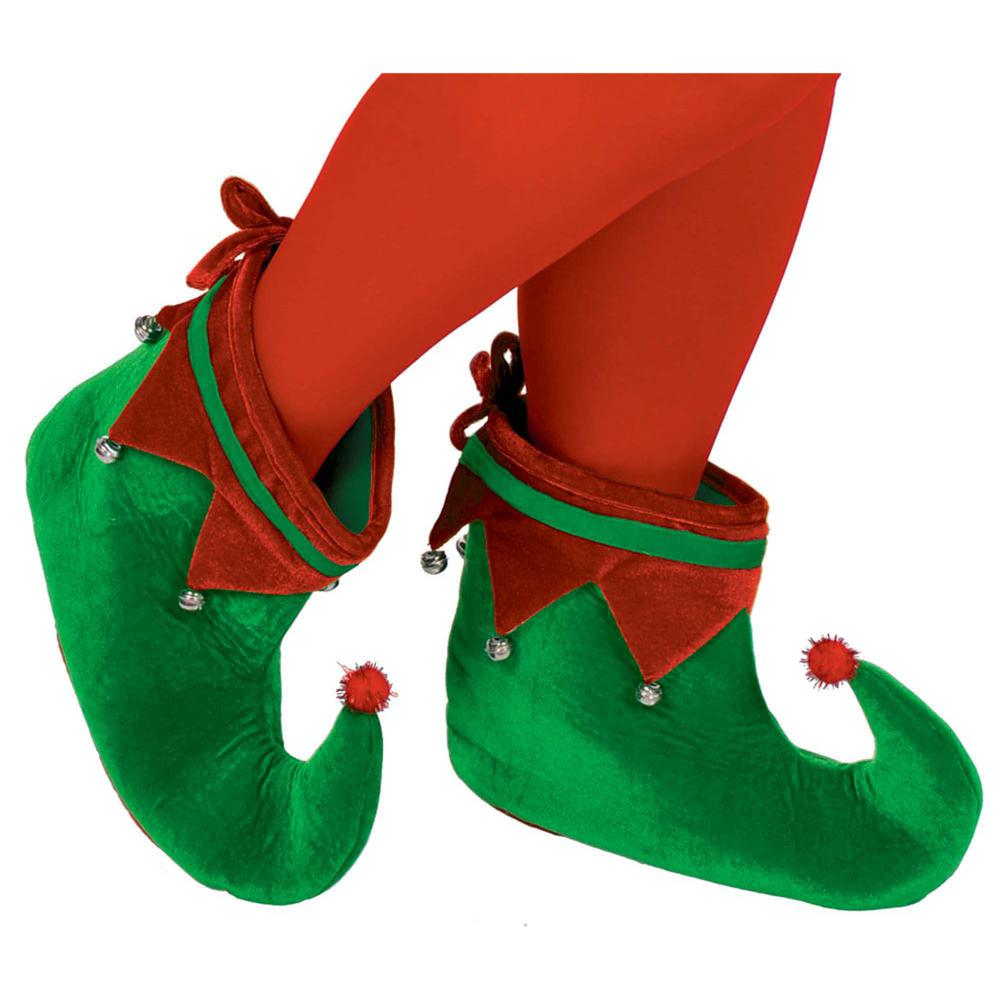 Amscan Adult Elf Christmas Shoes 2 Count 2 Pack 393235