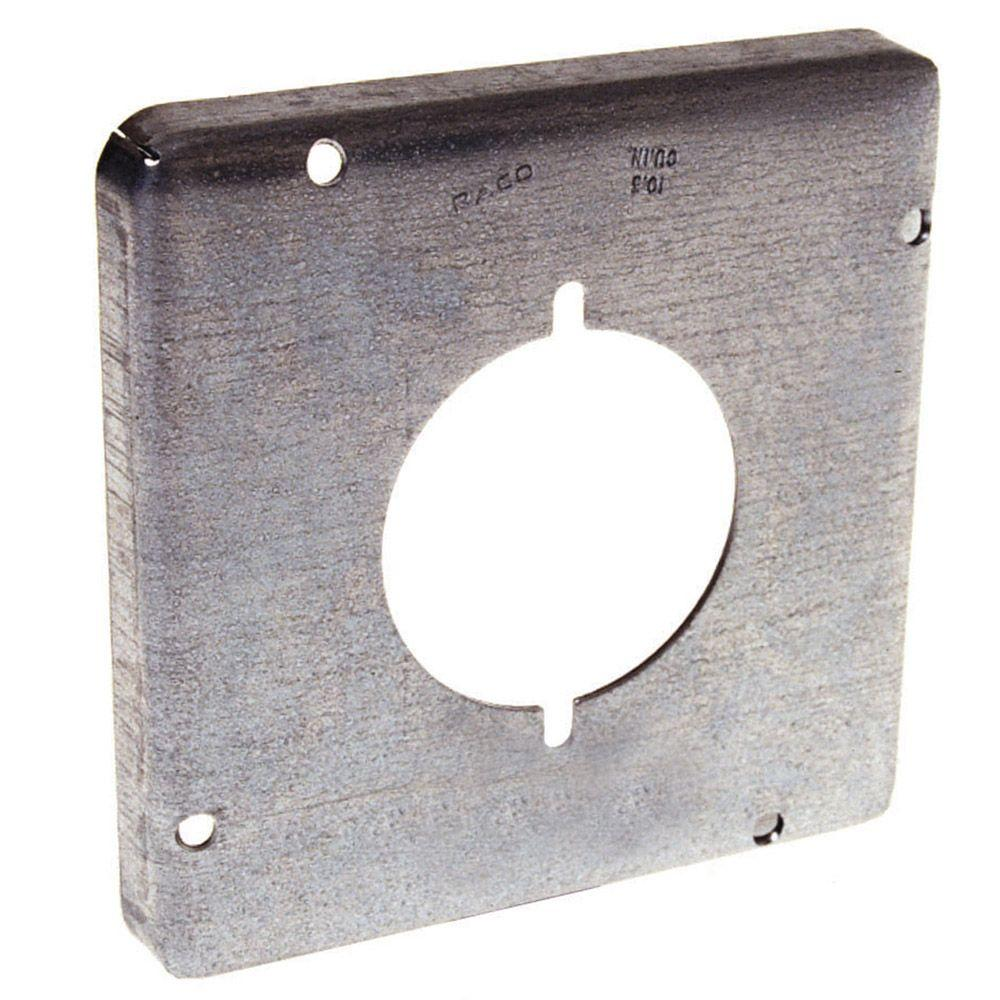 raco 4 11 16 in square exposed work cover for 30 50a round device