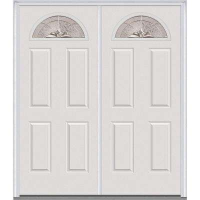 heirloom master deco glass 14 lite painted majestic steel double prehung front door - Exterior Steel Doors
