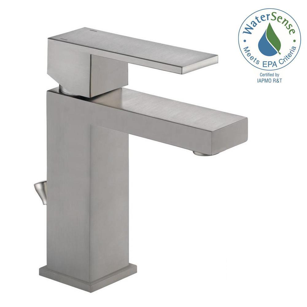 Modern Single Hole Single Handle Bathroom Faucet in StainlessPfister Venturi Single Hole Single Handle Bathroom Faucet in  . Home Depot Brushed Nickel Bathroom Sink Faucets. Home Design Ideas