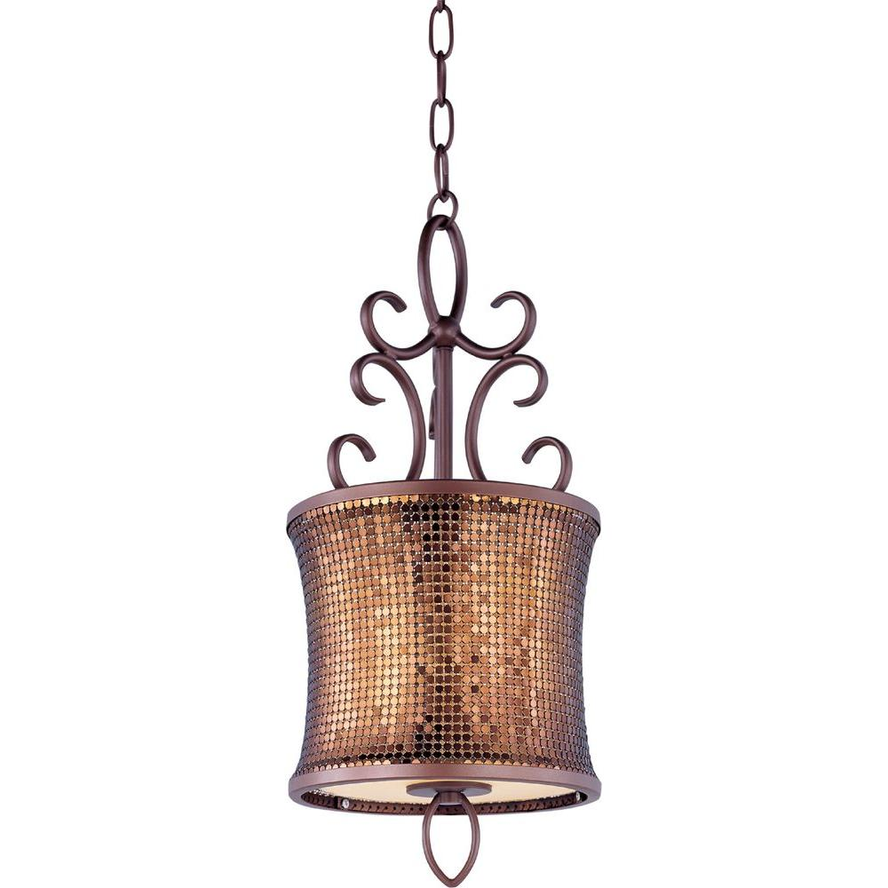 Maxim Lighting Alexander 1 Light Umber Bronze Mini Pendant