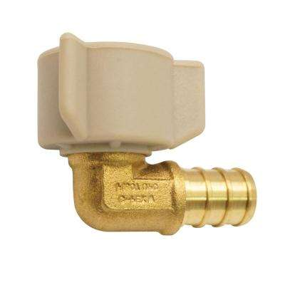 1/2 in. Brass PEX Barb x 1/2 in. Female Swivel 90-Degree Elbow