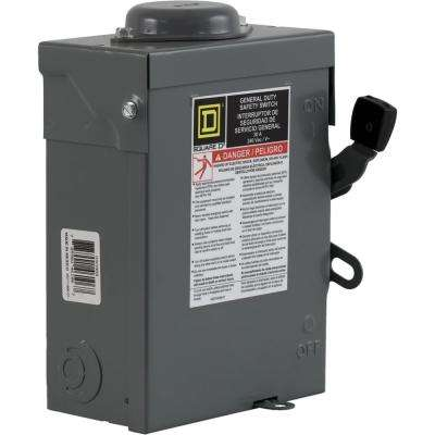 30 Amp 240-Volt 3-Pole 3-Phase Non-Fuse Outdoor General Duty Safety Switch