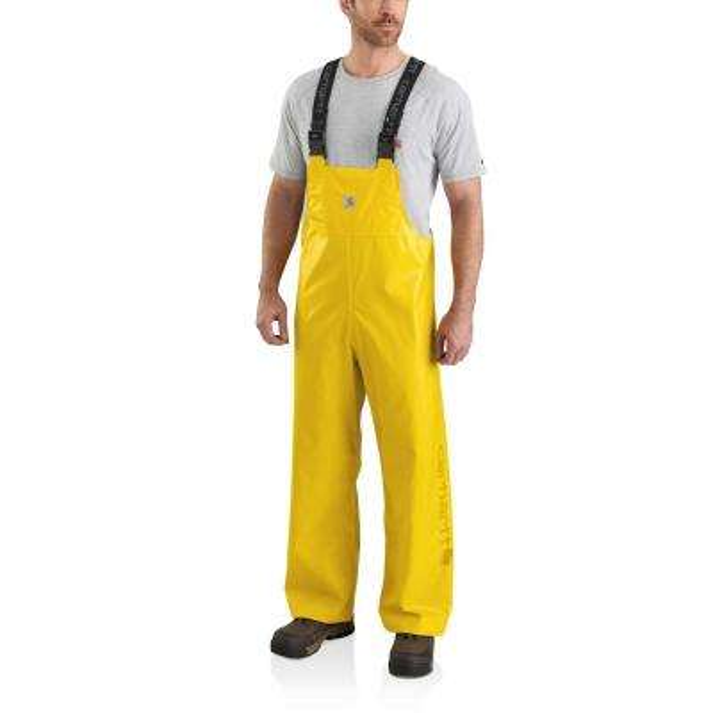 Men's Small Yellow Polyethylene/Polyester Lightweight Waterproof Rain Storm Unlined Bibs