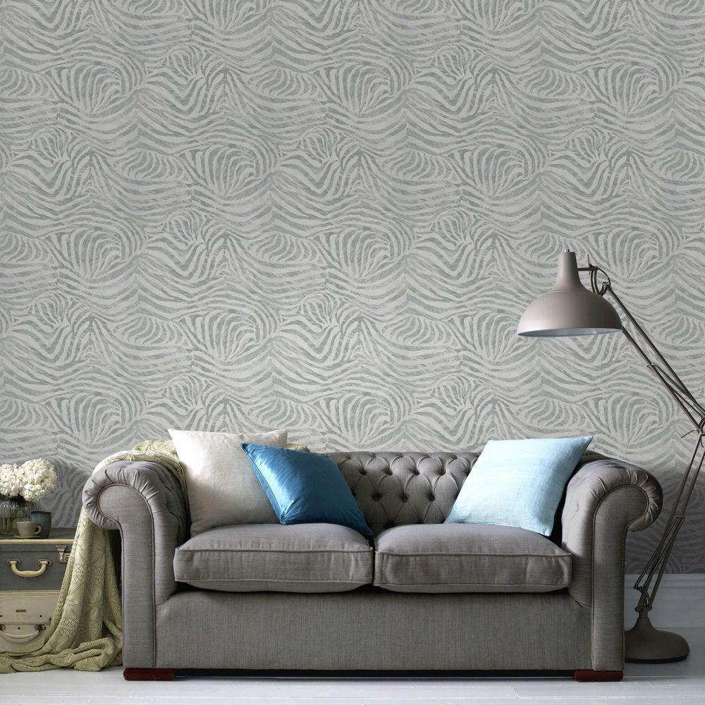Grey Zebra Wallpaper