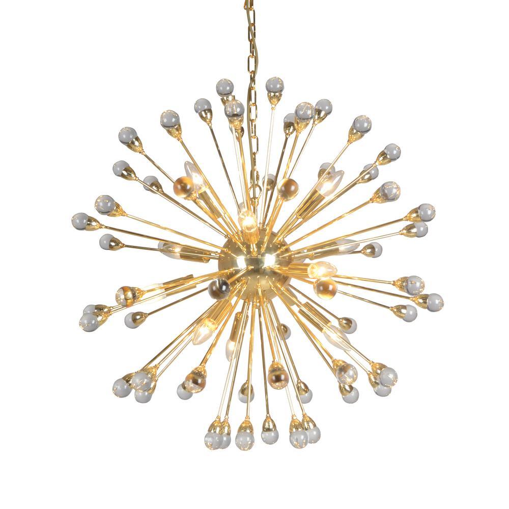 12-Light Gold Chandelier