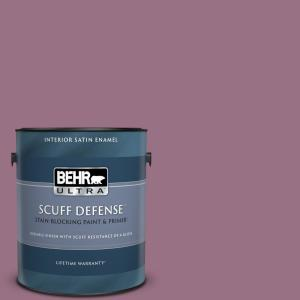 Behr Ultra 1 Gal 690d 6 Meadow Flower Extra Durable Satin Enamel Interior Paint And Primer In One 775301 The Home Depot