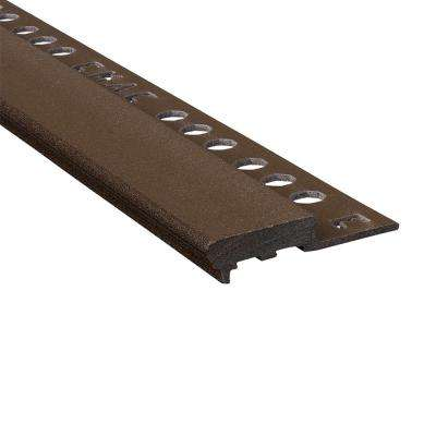Novopeldano Maxi Slate 3/8 in. x 98-1/2 in. Composite Tile Edging Trim