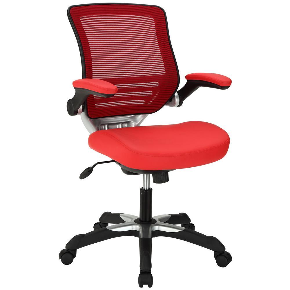 Edge Vinyl Office Chair in Red