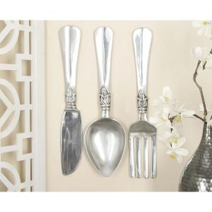 Silver Fork Knife And Spoon Wall Decor