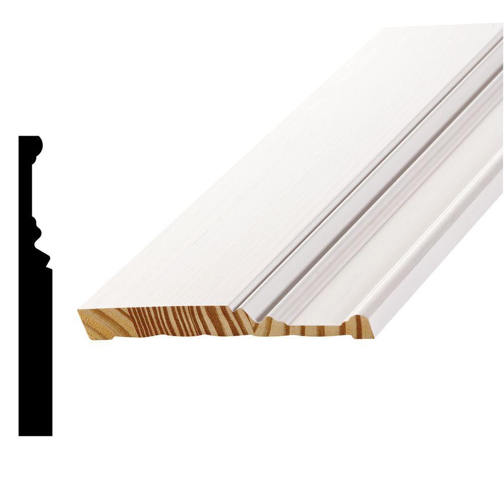 WP20 11/16 in. x 6 in. Primed Pine Finger-Jointed Base Moulding
