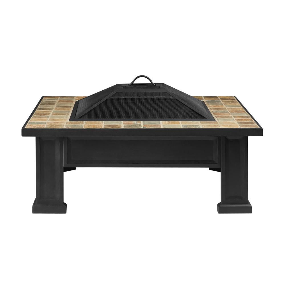Breckenridge 34 in. Steel Wood-Burning Fire Pit in Black