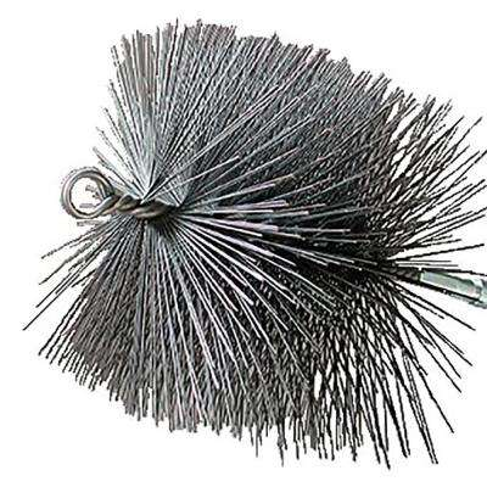 10 in. Square Wire Chimney Brush, 1/4 in. NPT