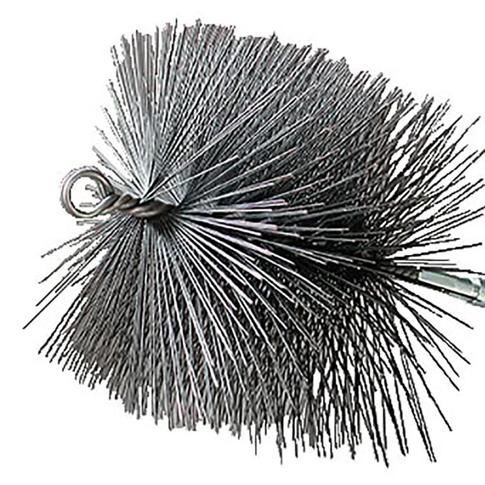 11 in. Square Wire Chimney Brush, 1/4 in. NPT