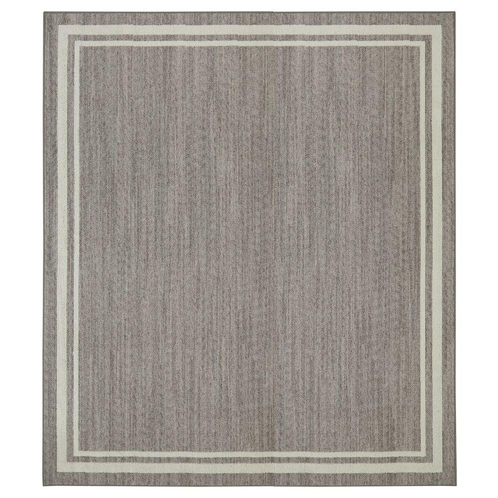 Border Loop Grey Cream 8 Ft X 8 Ft Square Area Rug