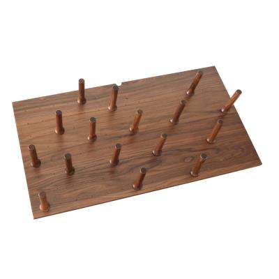 Large 39 in. x 21 in. Wood Peg Board System with (16-Pegs)