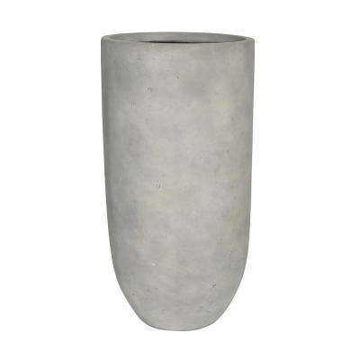 10 in. W x 18.25 in. H Composite Tall Crucible in Smooth Cement