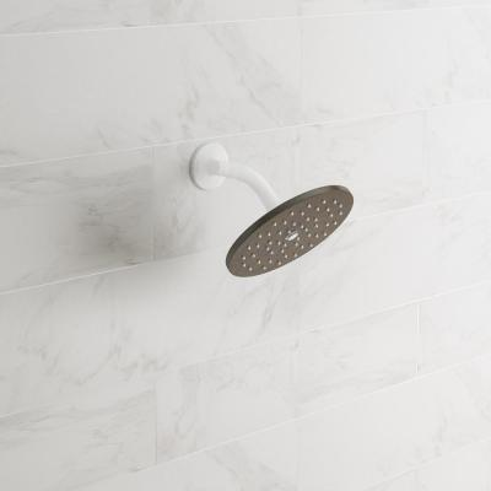 Waterhill 1-Spray 10 in. Single Wall Mount Fixed Shower Head in Oil Rubbed Bronze
