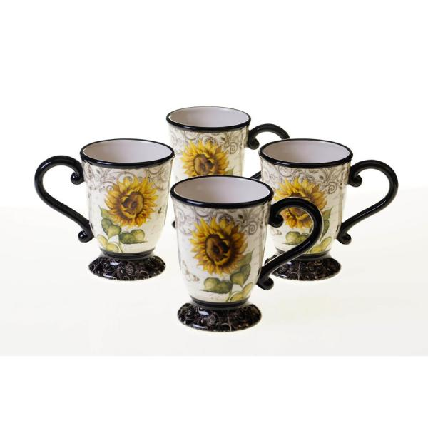 Certified International French Sunflowers 16 oz. Mug (Set of 4) 43213SET/4