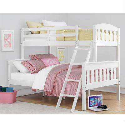 Airlie Twin Over Full White Wood Bunk Bed