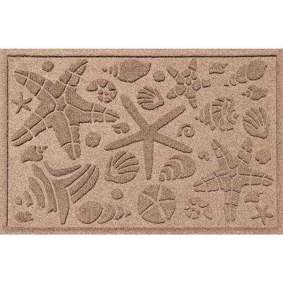 Medium Brown 24 in. x 36 in. Beachcomber Polypropylene Door Mat