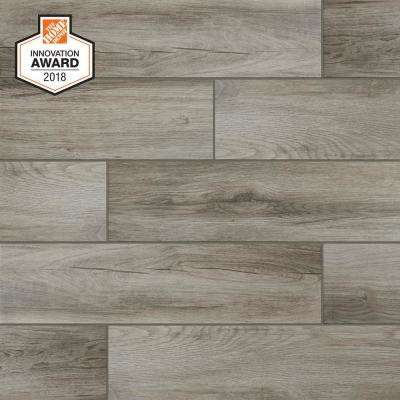 Wood porcelain tile tile the home depot - Home depot bathroom tile installation cost ...