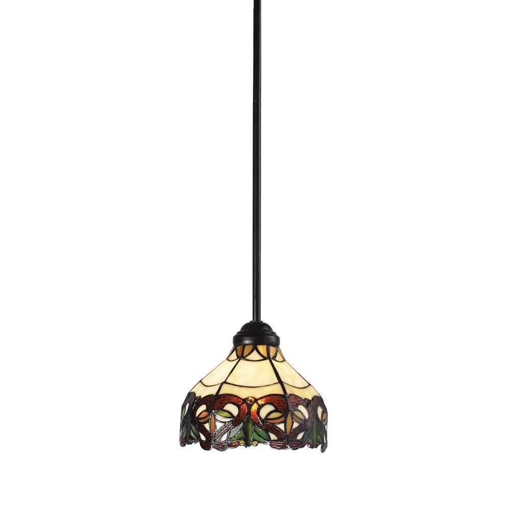 Tulen Lawrence 1-Light Chestnut Bronze Incandescent Ceiling Pendant-DISCONTINUED