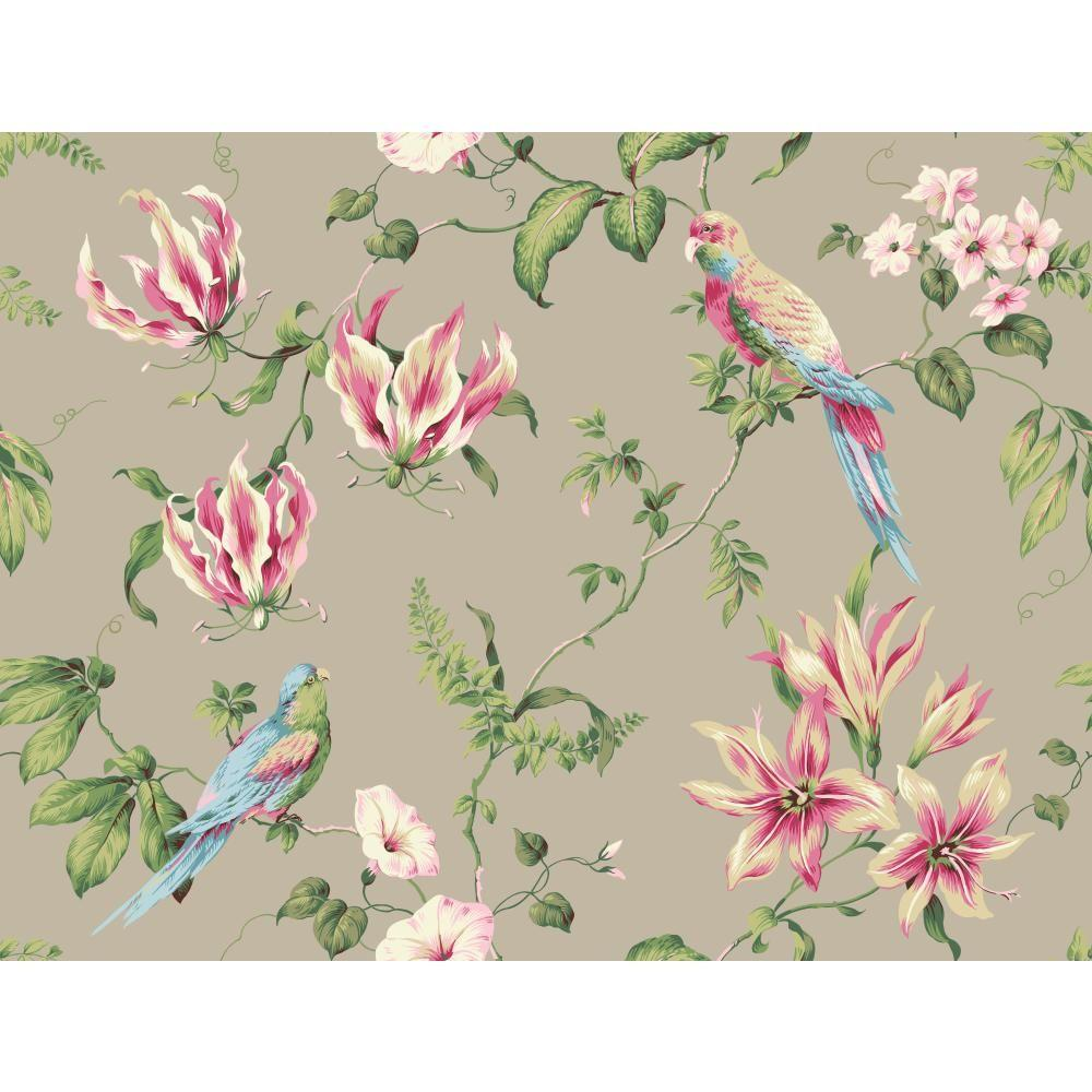 Casabella II Tropical Floral Wallpaper
