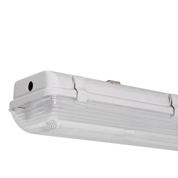Lithonia Lighting Industrial 2 Light White Outdoor Fluorescent Hanging Fixture Xwl 2 32 120 Re The Home Depot