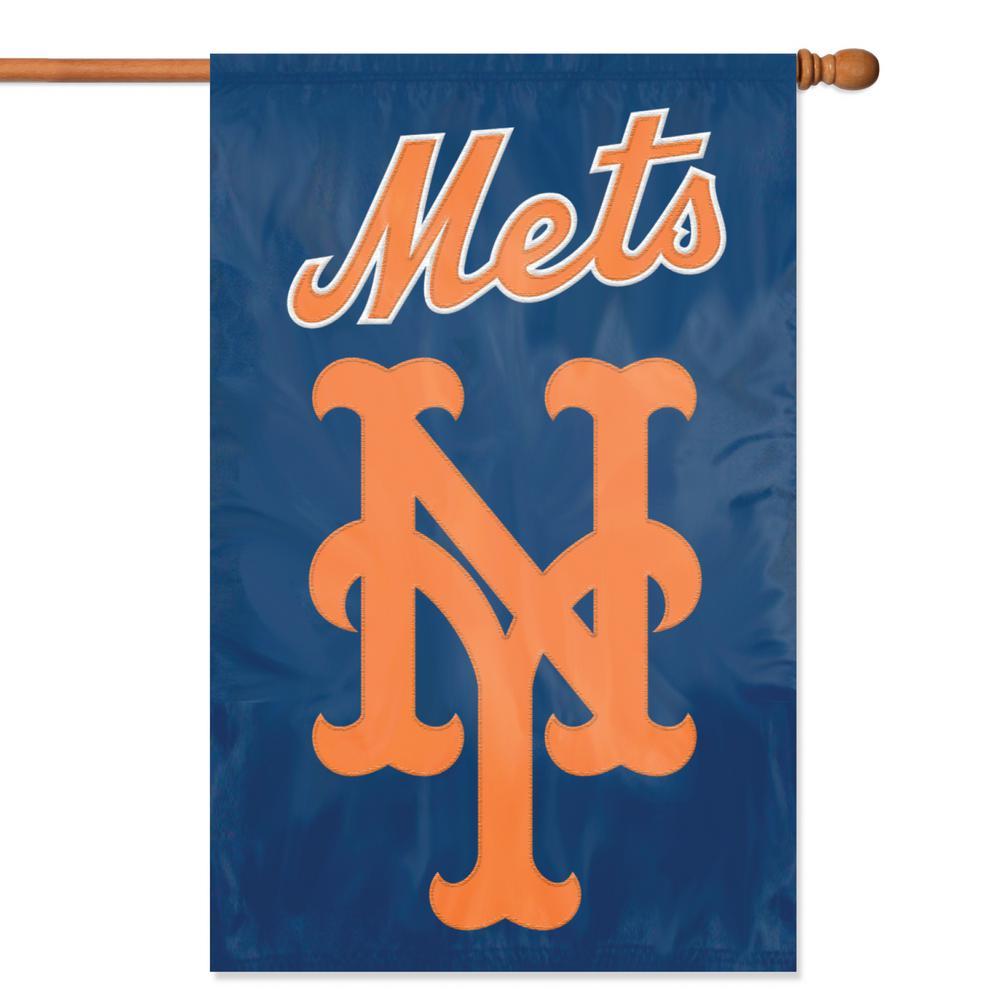 New York Mets Applique Banner Flag