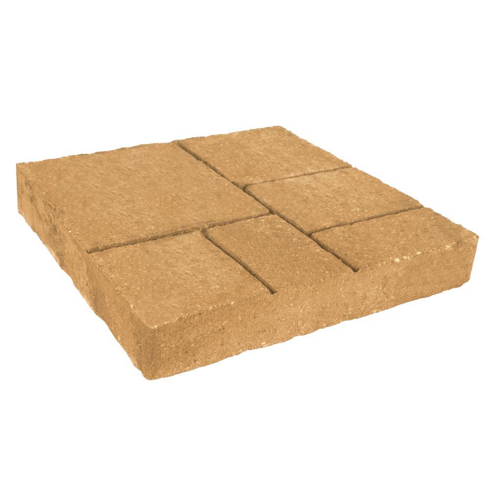 Avellino Stone 16 in. x 16 in. x 2.25 in. Tan/Charcoal (T...