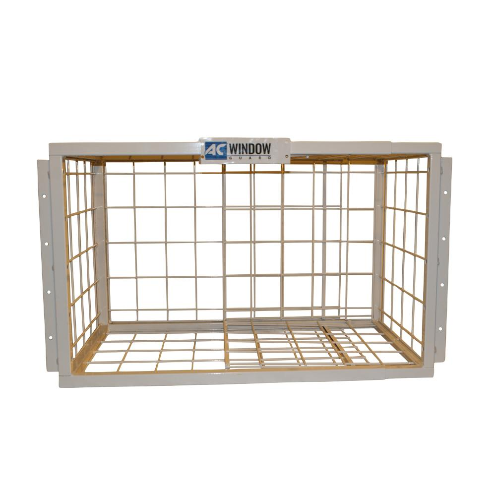 window air conditioner security horizontal slider window ac window guard guardmodel the home depot
