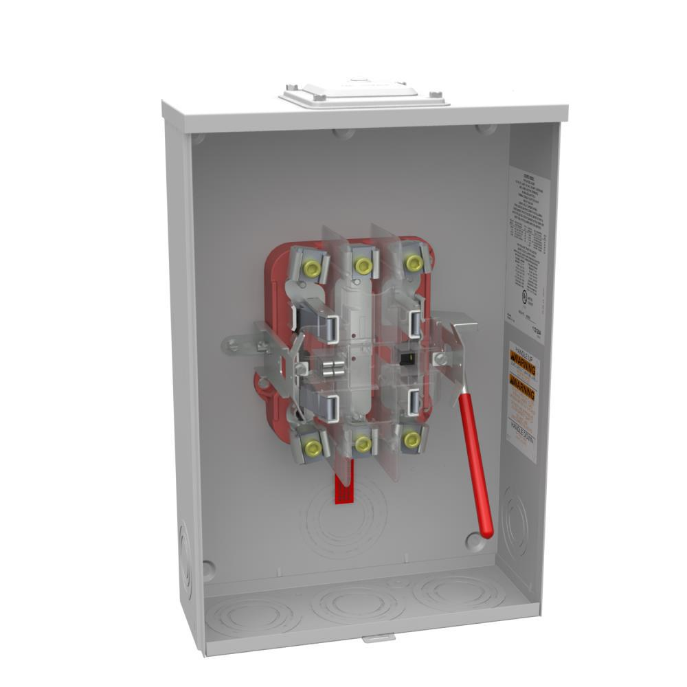 Milbank 200 Amp 5 Terminal Ringless Heavy Duty Lever Bypass Overhead/  Underground Meter Socket