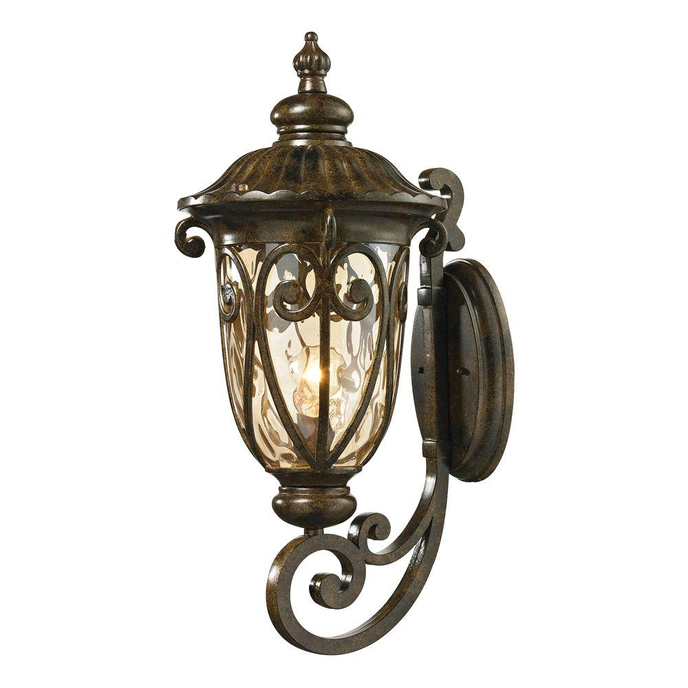 Titan Lighting Chantal Collection Hazelnut Bronze Outdoor Sconce