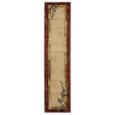 Linwood Red 2 ft. x 8 ft. Border Runner Rug