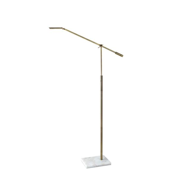 Adesso Ads360 Crane 60 In Integrated Led Black Floor Lamp Ad9101 15 The Home Depot