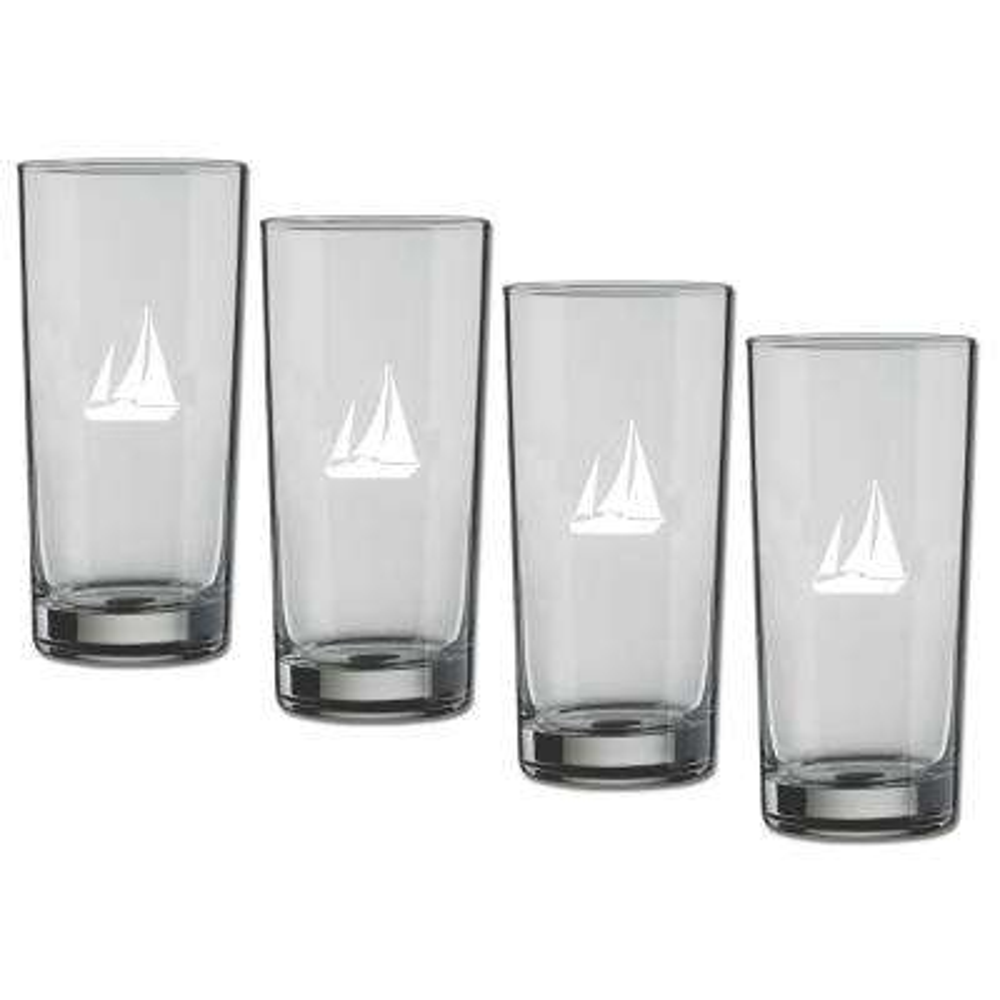 Kasualware Sailboat 16 oz. Highball Glass (Set of 4)