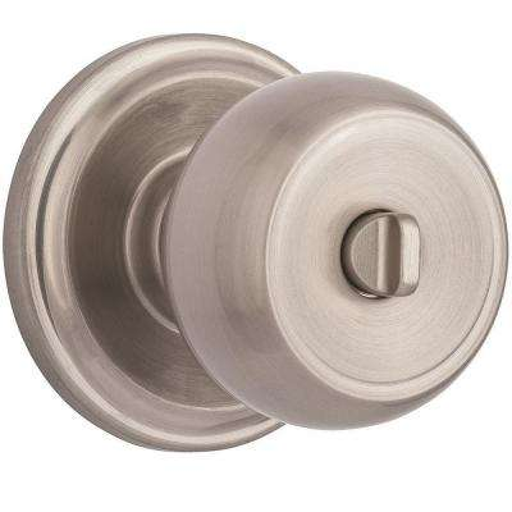 Stafford Satin Nickel Turn-Lock Privacy Push Pull Rotate Door Knob