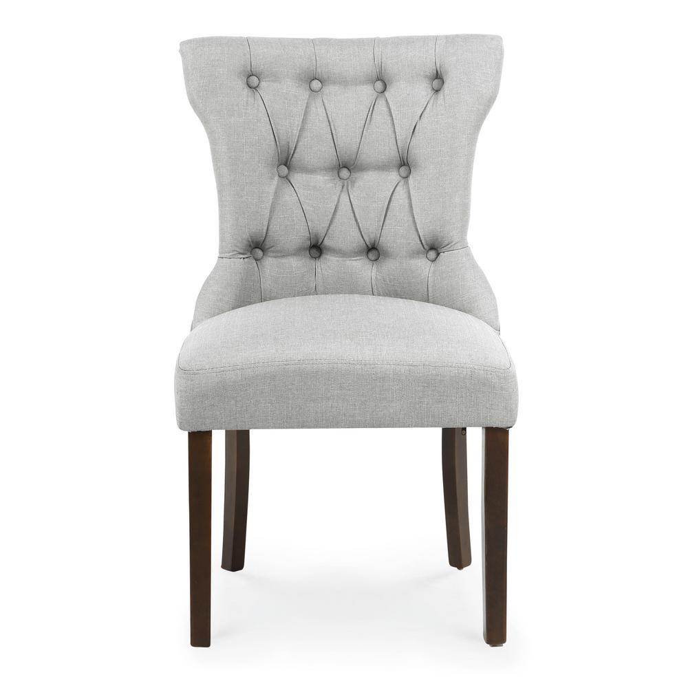 EDGEMOD Odessa Light Grey Dining Chair (Set of 2), Light Grey/Dark Brown was $343.98 now $206.38 (40.0% off)