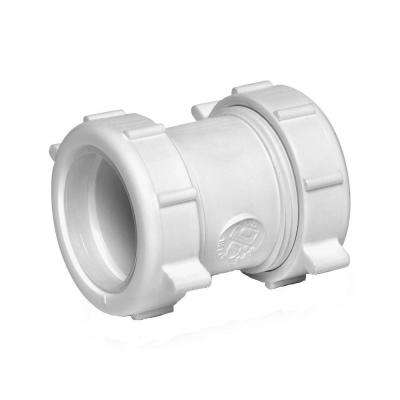 1-1/2 in Plastic Double Slip Joint Connector