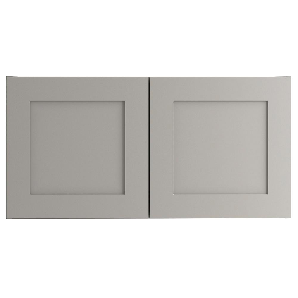 Cambridge Assembled 30x15x12.5 in. Wall Cabinet in Gray