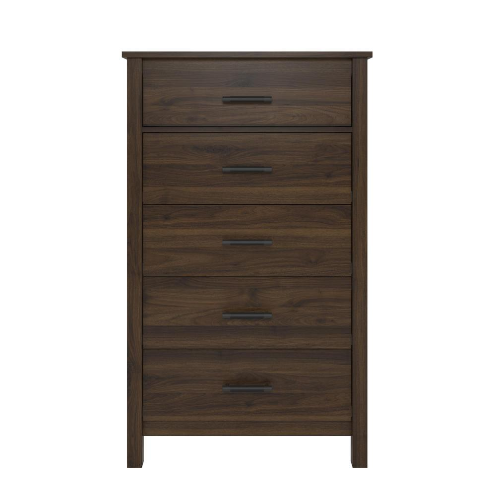 Meadow Ridge 5-Drawer Walnut Dresser