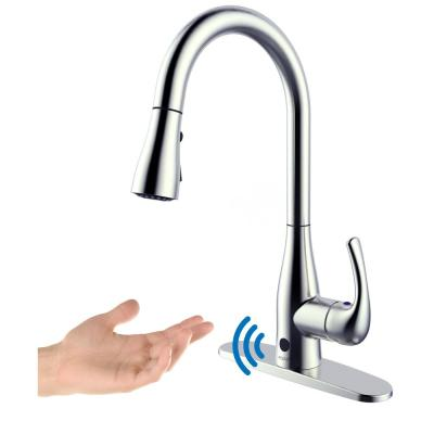 Motion Activated Single-Handle Pull-Down Sprayer Kitchen Faucet in Chrome