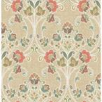 Willow Coral Nouveau Floral Paper Strippable Roll (Covers 56.4 sq. ft.)