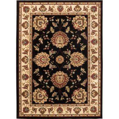 Timeless Abbasi Black 11 ft. x 15 ft. Traditional Area Rug
