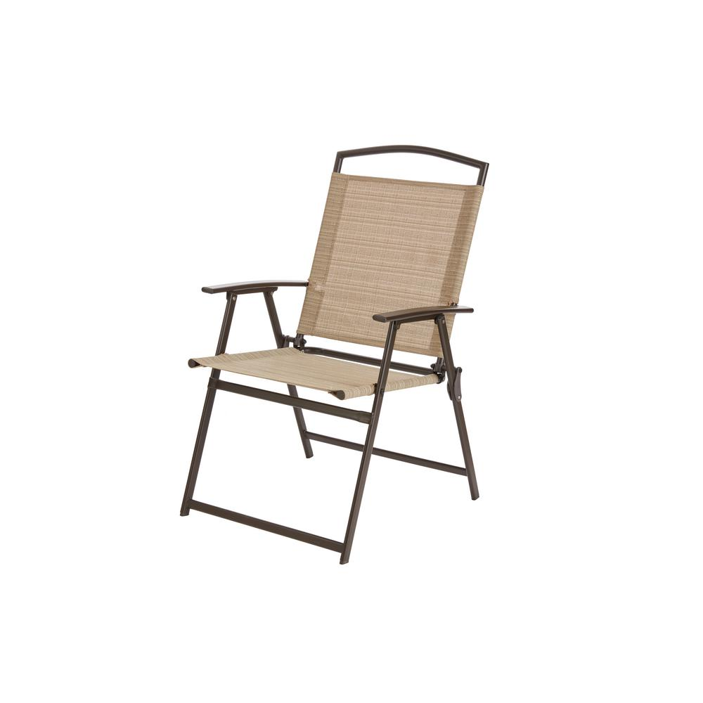 Sensational Hampton Bay Mix And Match Dark Brown Folding Outdoor Dining Chair In Cafe Non Padded Sling Bralicious Painted Fabric Chair Ideas Braliciousco