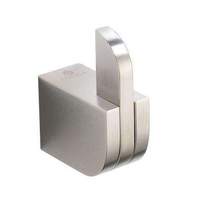 Solido Single Robe Hook in Brushed Nickel
