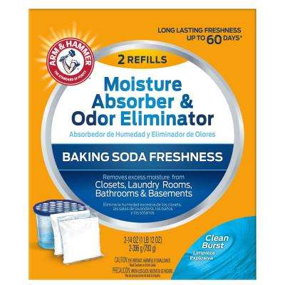 14 oz. Moisture Absorber and Odor Eliminator Clean Burst Scent (2-Pack)