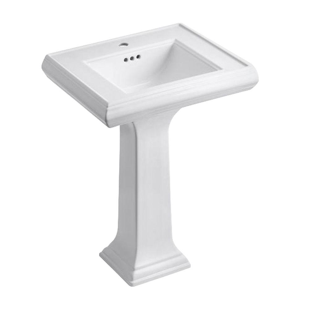 KOHLER Memoirs Classic Ceramic Pedestal Combo Bathroom Sink In White With  Overflow Drain K 2238 1 0   The Home Depot