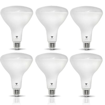 TriGlow 85-Watt Equivalent BR40 Dimmable 1,200-Lumen LED Light Bulb Soft White (6-Pack)